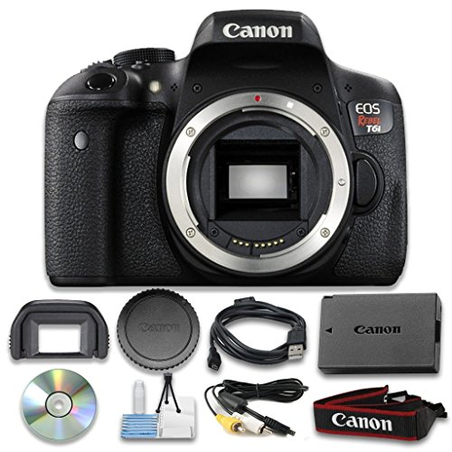 Eos full hd movie mode helps capture brilliant results in MP4 format. This cell time camera listing includes: canon eos rebel T6i DSLR Camera Body Only ...