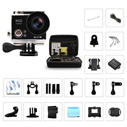 "FUNHOUR 2 0"" WIFI HD 1080P Sports Camera Black 12MP"