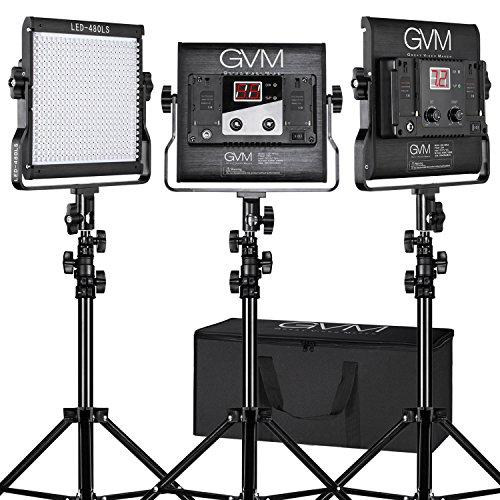 Gvm Photo Studio Led Ring Light: LED Video Light Kit GVM Dimmable Bi-color Variable 2300K