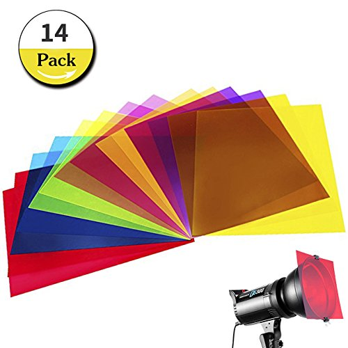 14 Pack Light Gels Colored Overlays