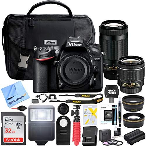Nikon D7200 24 2 MP Dual Zoom Lens Kit DSLR Camera with AF-P DX 18